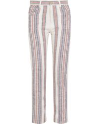 Chloé Striped Cottonblend Straightleg Pants - Lyst