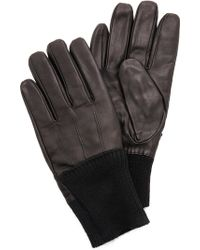 Marc By Marc Jacobs Leather Gloves - Lyst