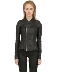 Rick Owens Glass Ice Biker Nappa Leather Jacket - Lyst