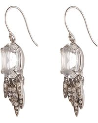 Alexis Bittar Clear Quartz And White Sapphire Drop Fringe Earring silver - Lyst