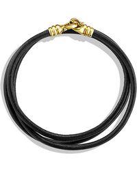 David Yurman Cable Buckle Triple-Wrap Bracelet In Gold - Lyst