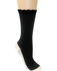 Kate Spade Pindot Colorblocked Trouser Socks - Lyst
