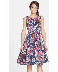 Eliza J Print Fit & Flare Dress - Lyst