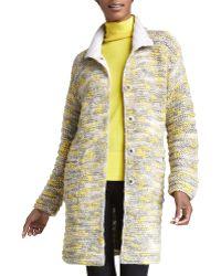 Lafayette 148 New York Long Chunky Knit Coat - Lyst