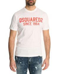 DSquared² White 1964 Logo Classic Fit Tshirt - Lyst