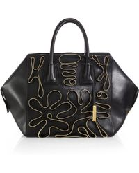 Stella McCartney Zipper-Accented Faux-Leather Boston Bag - Lyst