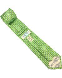 Reef Knots - Fish Silk Tie Green - Lyst