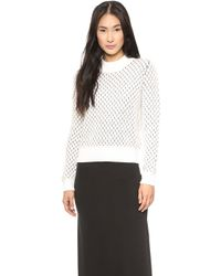Paul Smith Black Label Chunky Stitch Sweater White - Lyst