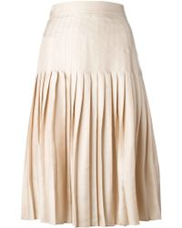 Givenchy Pleated Skirt - Lyst