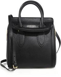 Alexander McQueen | Heroine Small Textured Leather Tote | Lyst