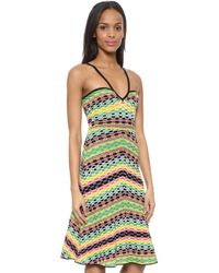 M Missoni Geometric Stripe Halter Dress - Multi - Lyst