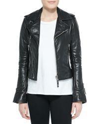 Balenciaga Notched-Collar Biker Jacket - Lyst