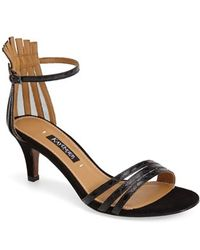 Kay Unger 'Basque' Strappy Leather Sandal - Lyst