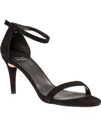 Stuart Weitzman Nunaked Ankle Strap Sandal Black Goose Bump black - Lyst