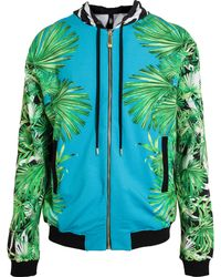 Versus  Tropical Zebra Printed Cotton Zip Hoodie - Lyst
