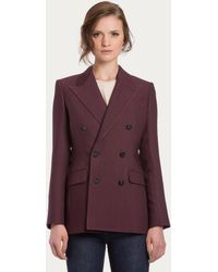 Bally Double-Breasted Blazer - Lyst
