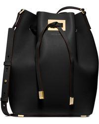 Michael Kors Miranda Large Drawstring Messenger Bag - Lyst