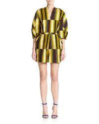 Stella Jean Marzaiola Striped Short Jumpsuit green - Lyst