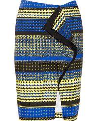 Prabal Gurung Ruffled Printed Cottonblend Skirt - Lyst