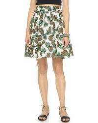 Blaque Label - Pineapple Circle Skirt - White - Lyst