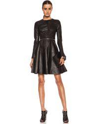 Yigal Azrouël Leather Dress - Lyst