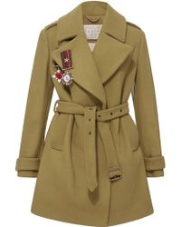 Maria Lucia Hohan - Greta Belted Army Style Coat - Lyst
