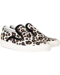 Mother Of Pearl Achilles Leopard Print Canvas Slip-On Sneakers - Lyst