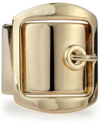 Givenchy Golden Buckle Ring - Lyst