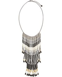 Nakamol Beaded Cascading Fringe Bib Necklace - Lyst