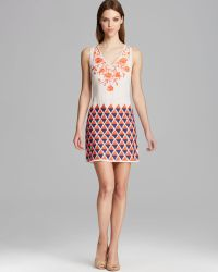 Tracy Reese Dress - Sleeveless Embroidered Shift - Lyst