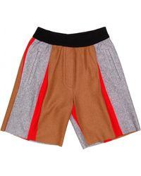 Giada Forte - Stripe Flannel Shorts - Lyst
