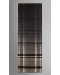 Burberry Check Ombre Wool Silk Scarf - Lyst