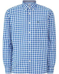 Lacoste Large Gingham Check Shirt - Lyst