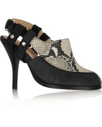 Thakoon Addition - Sophie Nubuck And Snake-Effect Leather Pumps - Lyst