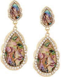 Panacea Abalone Double Drop Earrings - Lyst