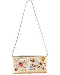 Dolce & Gabbana Crystal Embellished Clutch - Lyst