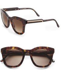 Stella McCartney 48Mm Oversized Square Sunglasses/Brown Tortoise - Lyst