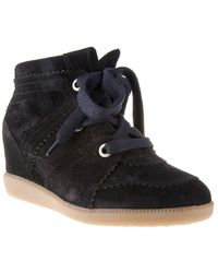 Isabel Marant Black Hitop Trainers - Lyst