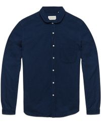 Oliver Spencer Falcon Navy Eton Collar Shirt blue - Lyst