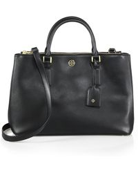Tory Burch Robinson Double-Zip Leather Tote - Lyst