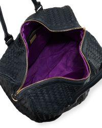Deux Lux - Gramercy Woven Fauxleather Weekender Bag Teal - Lyst