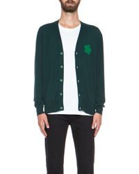 Christopher Kane Cashmere Cardigan with Rubber Patch - Lyst