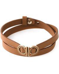Ferragamo Wrap Around Gancini Bracelet - Lyst