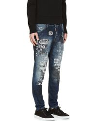 DSquared² Blue Kenny Monster Distressed Jeans - Lyst