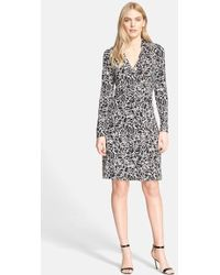 Diane von Furstenberg New Jeanne Two Print Silk Wrap Dress - Lyst