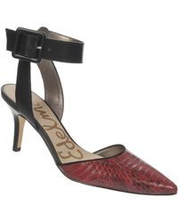 Sam Edelman Okala Leather Ankle Strap Pumps - Lyst