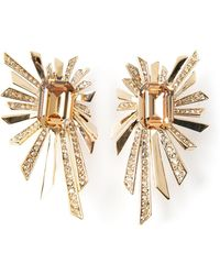 Roberto Cavalli Sun Rays Earrings - Lyst