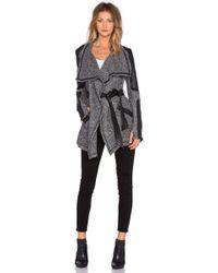 Blanc and Noir - Drape Sweater Coat - Lyst