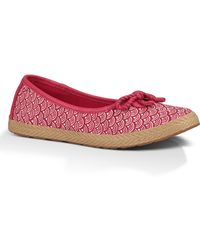 Ugg Syleste Scallop Flats - Lyst