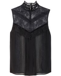 Alice + Olivia Harlow Lace Top - Lyst